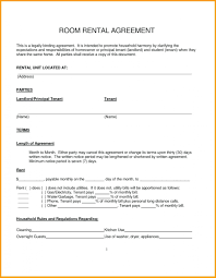 One Page Lease Agreement 013 Simple Lease Agreement Template Ideas Room Rental