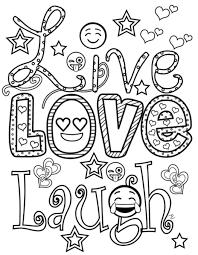 25 Bladeren Love Graffiti Kleurplaat Mandala Kleurplaat Voor Kinderen