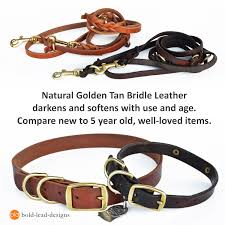 leather dog leash materials and sizing