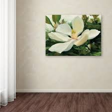 trademark fine art 35 in x 47 in majestic magnolia by julia on magnolia canvas wall art with trademark fine art 35 in x 47 in majestic magnolia by julia