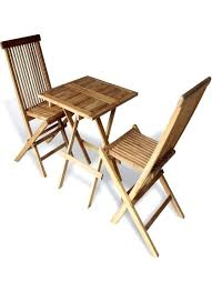 wooden bistro table wooden bistro set outdoor furniture set table 2 folding chairs balcony