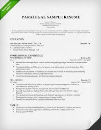 Paralegal Cover Letters Delectable Sample Paralegal Resume Musiccityspiritsandcocktail