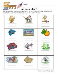 Free interactive exercises to practice online or download as pdf to print. Gi Ge Dge Worksheet Have Fun Teaching