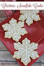christmas snowflake cookies. Modren Cookies Christmas Snowflake Cookie Recipe  MyLitter One Deal At A Time  With Cookies