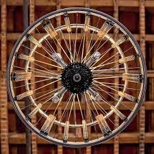 bicycle rim chandelier by design distressed upcycledzine