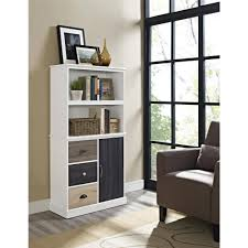 bookcases with doors and drawers. Ameriwood Home Mercer Storage Bookcase With Multicolored Door And Drawer Fronts, White - Walmart.com Bookcases Doors Drawers