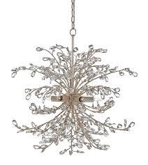 crystal bud silver wreath chandelier
