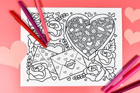 Add a little color to valentine's day with our free coloring pages—for kids and adults! Free Printable Valentine S Day Coloring Page Hey Let S Make Stuff