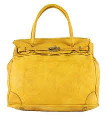 Designer Bags Made In Italy Amazon Com Bzna Bag Editta Yellow Italy Handmade Designer