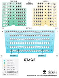 Seating Chart Village Theatre And Art Gallery