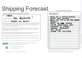 shipping forecast a way to get things done the social tester my own publishing of the shipping forecast template