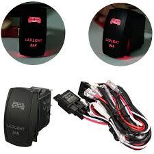 12v led light bar laser rocker on off switch wiring harness 40a 12v led light bar laser rocker on off switch wiring harness 40a relay fuse red