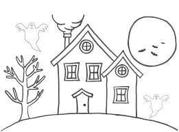 Small Picture Printable Haunted House Coloring Page At Pages Printables Eson Me