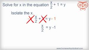 how to solve algebraic equations with multiple variables