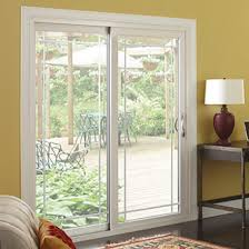 sliding patio door prairie style internal