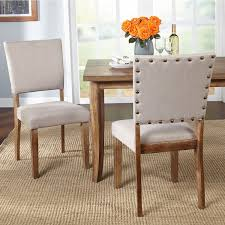 room chairs simple living provence nailhead parson dining chairs set of 2