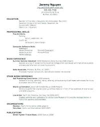 Resume Sample With No Work Experience Nfcnbarroom Com