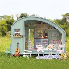 cuteroom a 016 time travel diy wooden dollhouse miniature kit doll house led