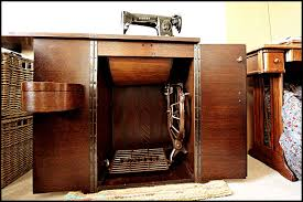 picture of singer cabinet no 46 with singer 201k mk2