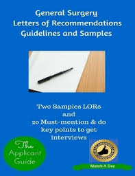 letter of recommendation for residency general surgery letters of recommendations guidelines and samples by