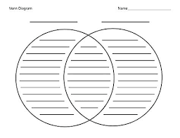 Printable Venn Diagram Template Venn Diagram 2 Circles Solacademy Co