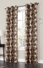 Modern Curtain Panels For Living Room The Jupiter Grommet Curtains Has A Large Scaled Multi Color Modern