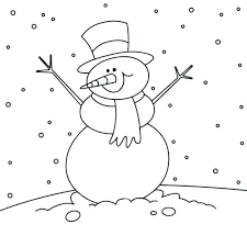 Frosty The Snowman Coloring Page Snowman And Frosty Coloring Page