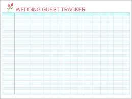 Wedding Guest List Template Excel Download Guest List Template Excel Bulat