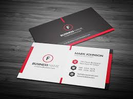 visting card format scarlet red creative business card template free download cp00020
