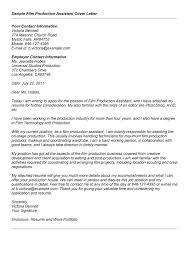 assistant cover letter manager salon cover letter for film internship