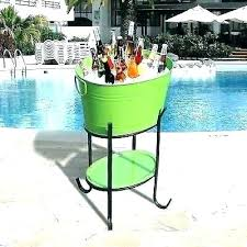 beverage bucket with stand party cooler best outdoor tub ice metal wine chiller be stainless electric
