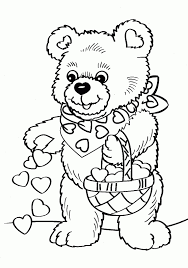 Valentine Coloring Pages Free Printable Valentines Day Coloring
