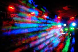 flashing lights of night life in fort lauderdale florida encircle photos
