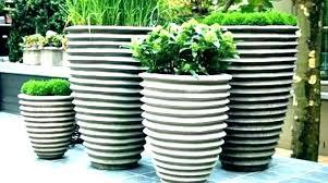 extra large outdoor ceramic planters blue white planter