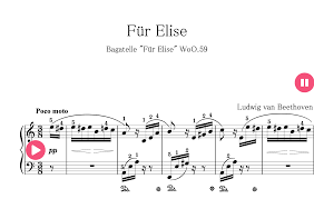 Minimum required purchase quantity for these notes is 1. Fur Elise Sheet Music For Piano Original Letters Finger Numbers Starryway