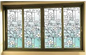 stained glass sliding doors window faux for front door s interior