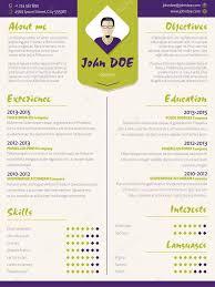 Colorful Modern Resume Curriculum Vitae Template With Design Ele