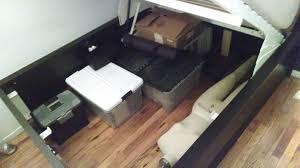 Ikea malm storage bed Hydraulic Img20140208202259832 Img20140208204142561 Ikea Hackers Lofted Raised Malm Storage Bed Converts To 18
