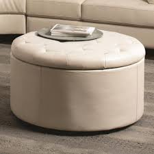 dazzling large round storage ottoman coffee table 17 wonderful leather