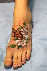 Tetovací Vzory Květin Na Noze Květinové Tetování Význam A Fotografie