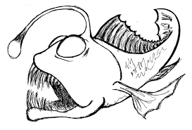Small Picture Fish coloring pages deep sea fish ColoringStar