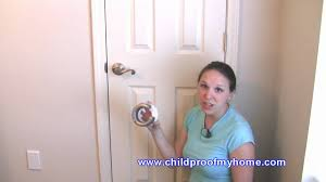 child proof front doorChildproofing Your Home  Door Safety  Lever Handle Lock  YouTube