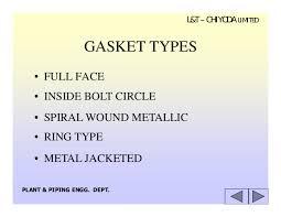 flange gasket types. 22. l\u0026t \u2013 chiyoda limited gasket types flange gasket types u