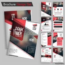 Creative Brochure Design Set Professional Template Layout