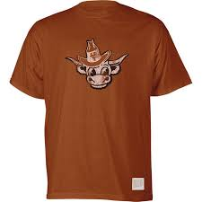Burnt Bevo T-shirt Orange Tonal Longhorns Brand Retro Ringer Texas Vault