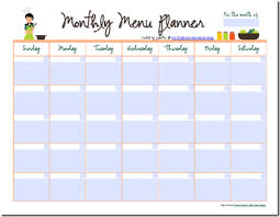 monthly meal planner template free editable monthly menu planner planners meals and pdf
