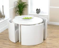 round white dining tables white high gloss round stowaway dining table with 4 white round dining