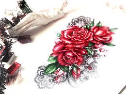 20 Cards In Collection цветные татуировки эскизы цветы Of User