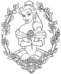 Small Picture colouring sheets disney princess belle free for girls boys