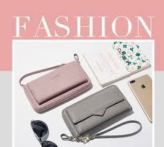 PU Leather <b>New</b> Women <b>Wallet Fashion</b> Zipper Long Purse card ...